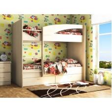 Двухъярусная кровать с ящиками Волна-Мая