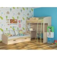 Детская комната Акварель 27 с кроватью-чердаком