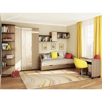 Подростковая мебель Бриз 1 с угловым шкафом