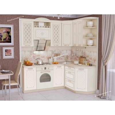 Кухонный гарнитур угловой правый Милана 14
