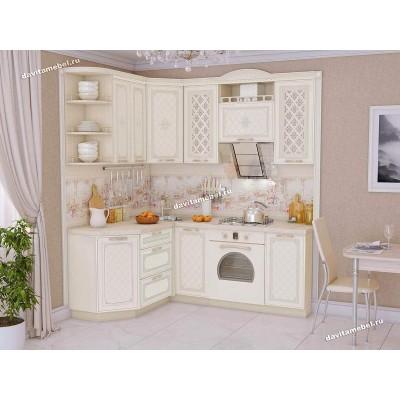 Кухонный гарнитур угловой левый Милана 15