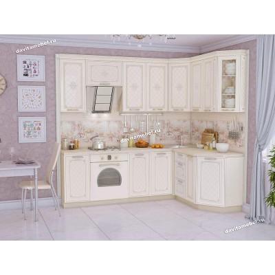 Кухонный гарнитур угловой правый Милана 16 (ширина 240х160 см)