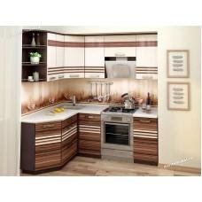 Кухонный гарнитур угловой левый Рио 15 (ширина 150х200 см)