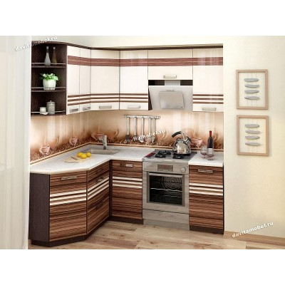 Кухонный гарнитур угловой левый Рио 15