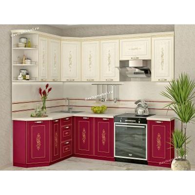 Кухонный гарнитур угловой Виктория 17