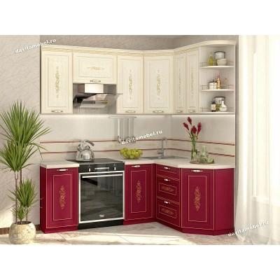 Кухонный гарнитур угловой правый Виктория 14