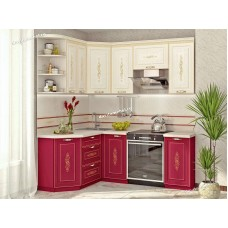 Кухонный гарнитур угловой левый Виктория 15 (ширина 150x200 см)