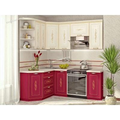 Кухонный гарнитур угловой левый Виктория 15
