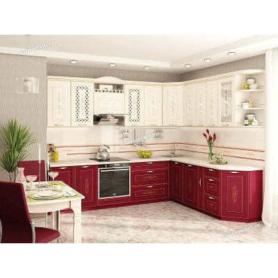 Кухонный гарнитур угловой Виктория 18