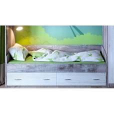Кровать нижняя Юта винтерберг/бетон